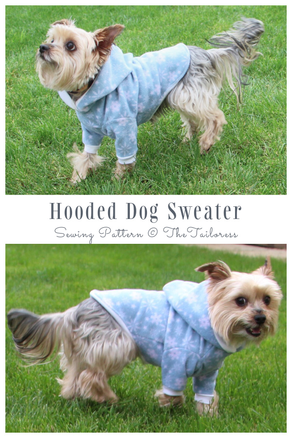 DIY Fabric Duff's Hooded Dog Coat Free Sewing Patterns