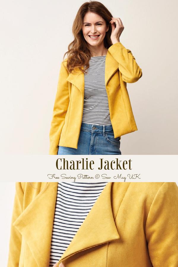 DIY Lady Fabric Jacket Free Sewing Pattern