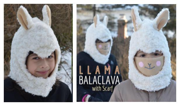DIY Fabric Llama Balaclava Mask Free Sewing Pattern