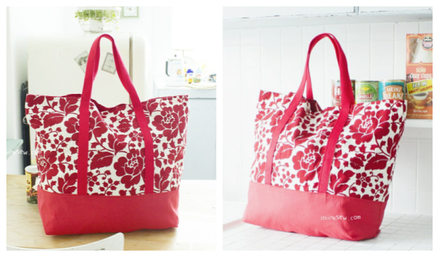 DIY Fabric Martha Market Bag Free Sewing Pattern
