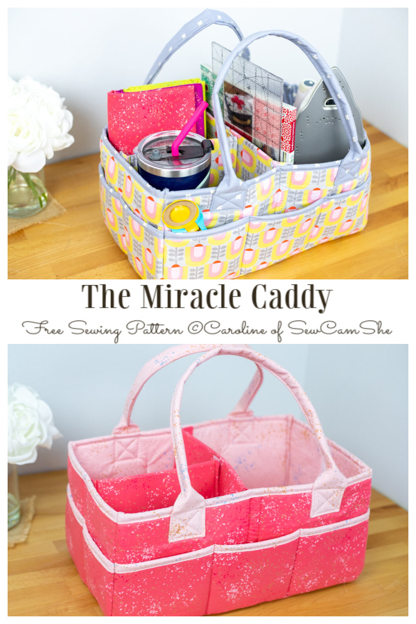 DIY Fabric Miracle Caddy Free Sewing Pattern