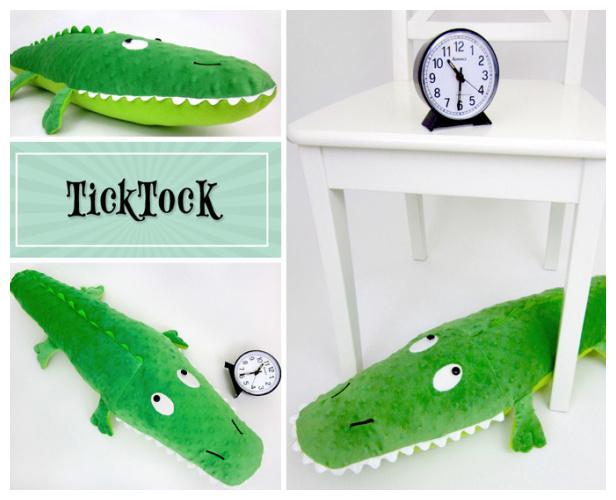 DIY Fabric Stuffed Crocodile Free Sewing Pattern