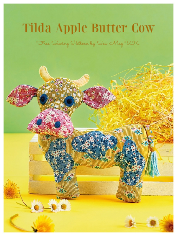 DIY Fabric Tilda Apple Butter Cow Free Sewing Patterns
