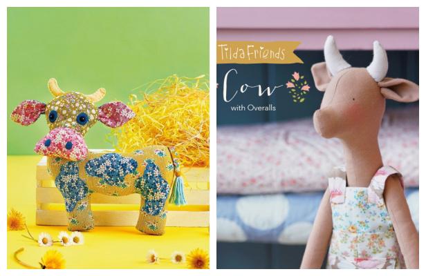 DIY Fabric Tilda Friends Cow Free Sewing Patterns