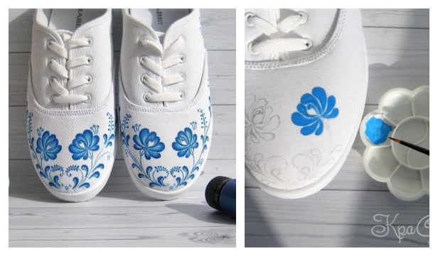 How to Customize Pattern on White Canvas Sneakers
