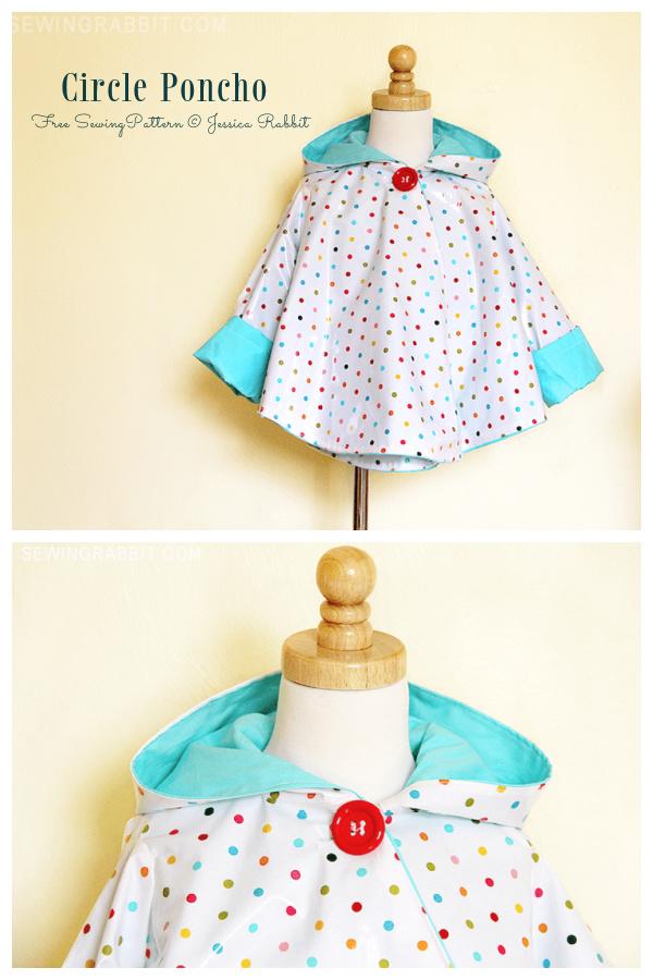 DIY Fabric Circle Poncho Free Sewing Pattern