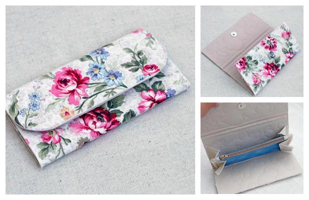 DIY Fabric Clutch Wallet Free Sewing Pattern