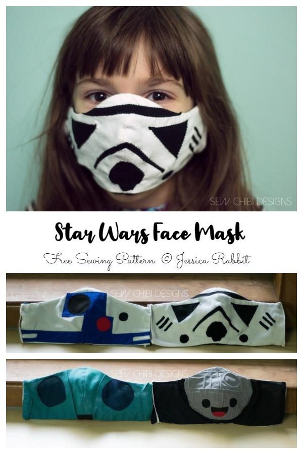 DIY Fabric Star Wars Halloween Face Mask Free Sewing Patterns