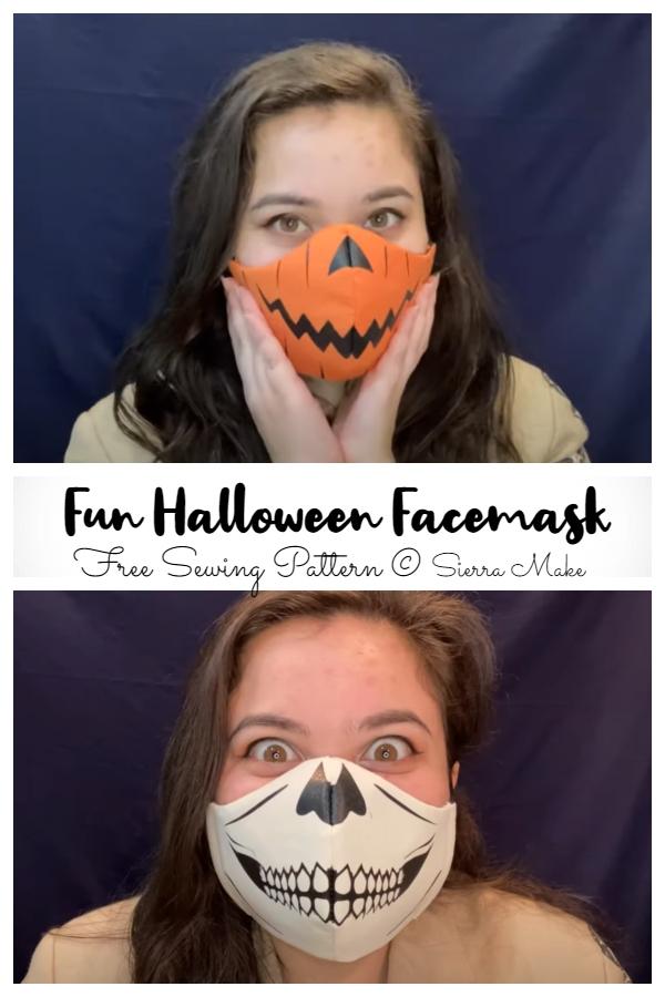 DIY 3D Fabric Fun Halloween Face Mask Free Sewing Patterns