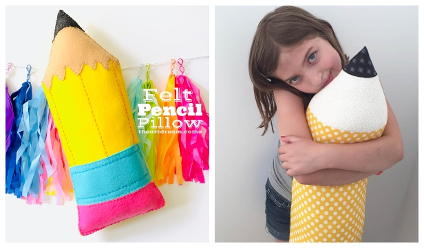 DIY Fabric Pencil Pillow Free Sewing Patterns