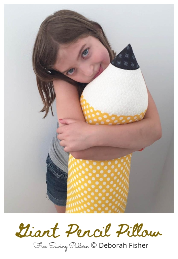 DIY Giant Fabric Pencil Pillow Free Sewing Patterns