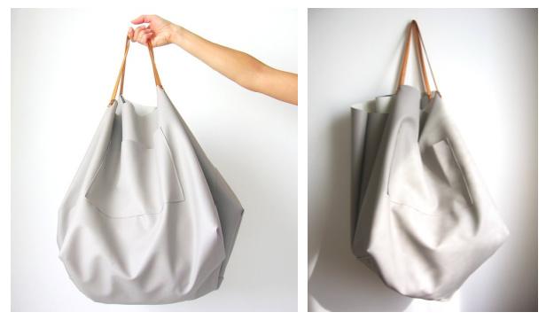 DIY Maxi Leather Handbag Free Sewing Pattern