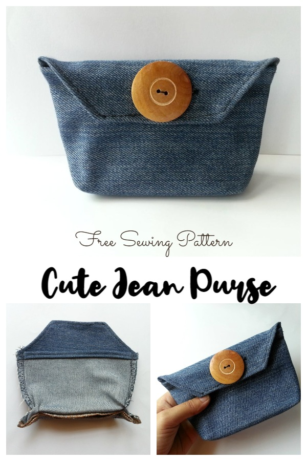 DIY Simple Upcycled Jean Purse Free Sewing Pattern