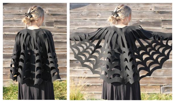 No-Sew Spider Web Poncho DIY Tutorial + Video