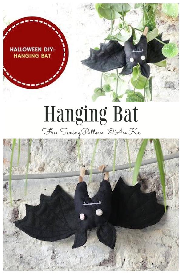 DIY Fabric Hanging Bat Free Sewing Pattern