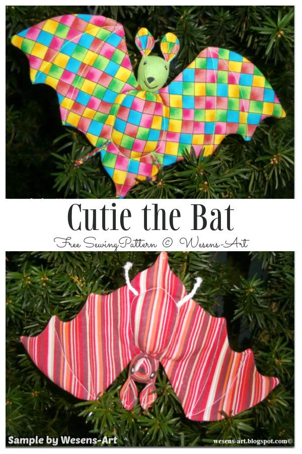 DIY Fabric Cutie the Bat Free Sewing Patterns