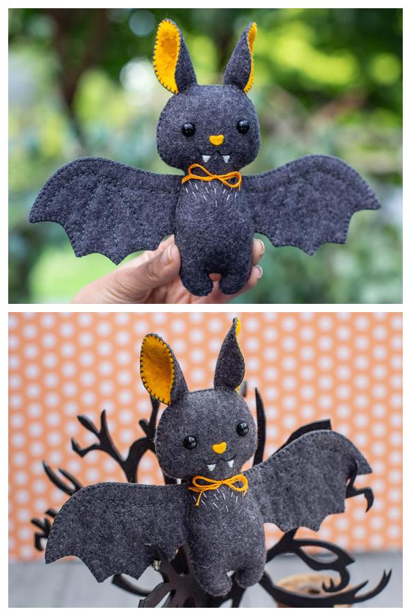 DIY Fabric Felt Bat Plush  Sewing Patterns