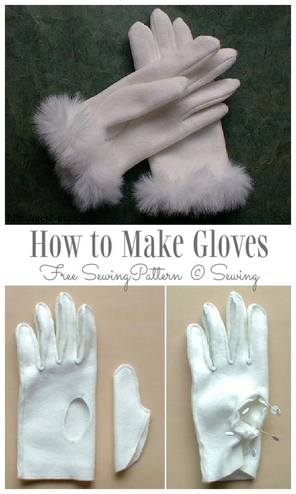 DIY Fabric Gloves Free Sewing Pattern