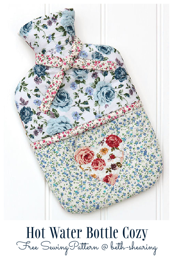 DIY Fabric Hot Water Bottle Cozy Free Sewing Patterns