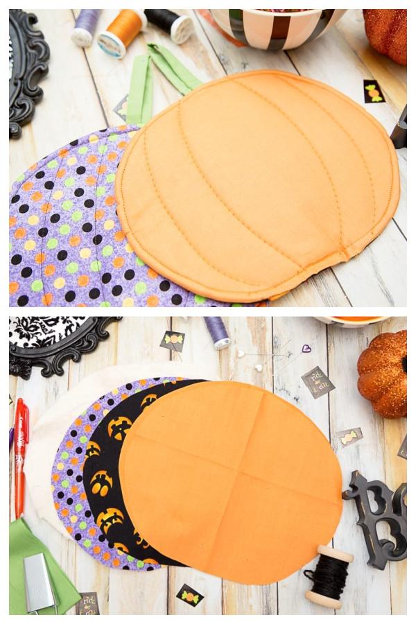 Halloween Pumpkin Pot Holder Free Sewing Patterns