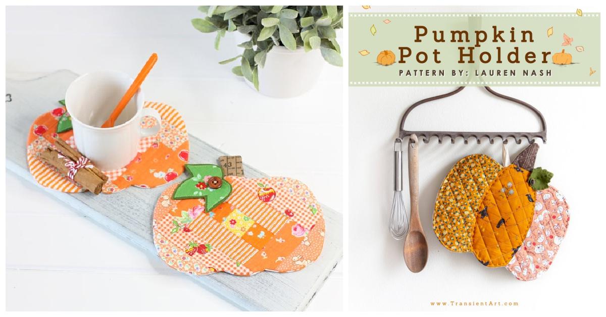 Fall Pumpkin Potholder Free Sewing Patterns